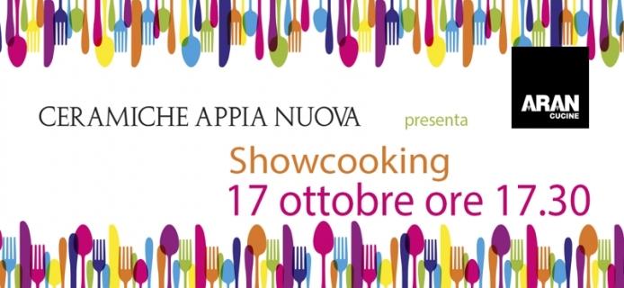 Showcooking con aran cucine ceramiche roma ceramiche appia nuova - Ceramiche appia nuova roma bagno ...